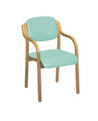 Aurora Stacking Visitor Seat, With Arms, Intevene Anti-bacterial Upholstery - 12 Colours (Multibuy)