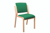 Genesis Easy Access Seat, No Arms, Square back, -Anti-bacterial Vinyl Upholstery (Multibuy)