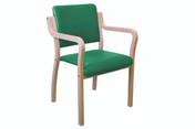Genesis Easy Access Seat, with Arms, Square Back, Anti-bacterial Vinyl Upholstery (Multibuy)