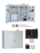 Buy MC9 Outer Medicine Cabinet 91cm(H) x 100cm(W) x 30cm(D) CDC22 Inner Cabinet 30cm(H) x 34cm(W) x 27cm(D) (SUN-MCDC922) sold by eSuppliesMedical.co.uk