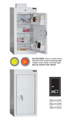 Buy Medicine Cabinet - 3 Shelves & 2 Door Trays, 1 Door - 66cm(H) x 30cm(W) x 30cm(D) - With Light (SUN-MC1/WL) sold by eSuppliesMedical.co.uk