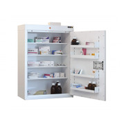 Buy Medicine Cabinet - 4 Shelves & 4 Door Trays, 1 Door - 91cm(H) x 60cm(W) x 30cm(D) - With Light (SUN-MC7/WL) sold by eSuppliesMedical.co.uk