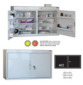 Buy Medicine Cabinet - 6 Shelves & 5 Door Trays, 2 Doors - 66cm(H) x 100cm(W) x 30cm(D) - With Light (SUN-MC5/WL) sold by eSuppliesMedical.co.uk