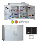 Buy Medicine Cabinet - 6 Shelves & 5 Door Trays, 2 Doors - 66cm(H) x 80cm(W) x 30cm(D) - With Light (SUN-MC4/WL) sold by eSuppliesMedical.co.uk