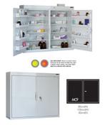 Buy Medicine Cabinet - 8 Shelves & 8 Door Trays, 2 Doors - 85cm(H) x 100cm(W) x 30cm(D) - No Light (SUN-MC9/NL) sold by eSuppliesMedical.co.uk