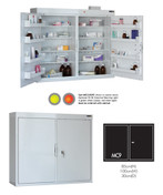 Buy Medicine Cabinet - 8 Shelves & 8 Door Trays, 2 Doors - 91cm(H) x 100cm(W) x 30cm(D) - With Light (SUN-MC9/WL) sold by eSuppliesMedical.co.uk