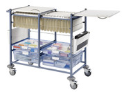 Buy Medical Notes Trolley, Large, Open Sides, Locking Top (SUN-MNT21) sold by eSuppliesMedical.co.uk
