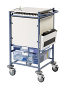 Buy Medical Notes Trolley, Small, Enclosed Sides, Locking Top (SUN-MNT10) sold by eSuppliesMedical.co.uk
