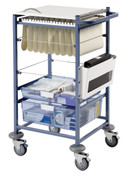 Buy Medical Notes Trolley, Small, Open Sides, Locking Top (SUN-MNT11) sold by eSuppliesMedical.co.uk