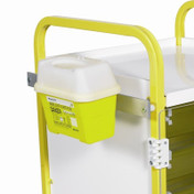 Buy Sharps Box holder (Frontier) 2 & 3 Litre includes Medi-Rail (Sun-SBOX3) sold by eSuppliesMedical.co.uk