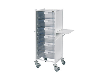 Buy Vista 120 Trolley  6 double depth clear trays (SUN-MPT122C) sold by eSuppliesMedical.co.uk