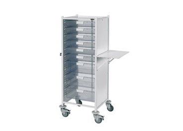 Buy Vista 120 Trolley  6 single / 3 double depth clear trays (SUN-MPT121C) sold by eSuppliesMedical.co.uk