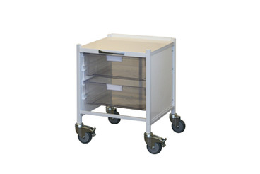 Buy VISTA 15 Trolley - 2 Double Depth Clear Trays (Sun-MPT53C) sold by eSuppliesMedical.co.uk