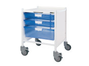 Buy VISTA 15 Trolley - 2 Single / 1 Double Depth Blue Trays (Sun-MPT52B) sold by eSuppliesMedical.co.uk