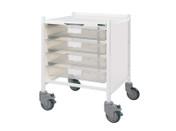 Buy VISTA 15 Trolley - 4 Single Depth Clear Trays (Sun-MPT51C) sold by eSuppliesMedical.co.uk