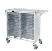 Buy Vista 180 Action Station Trolley  10 single / 4 double depth clear trays, standard Castor Buffers (SUN-MPT181C) sold by eSuppliesMedical.co.uk
