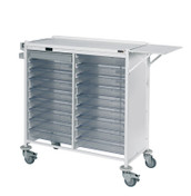 Buy Vista 180 Action Station Trolley  18 single depth clear trays, standard Castor Buffers (SUN-MPT180C) sold by eSuppliesMedical.co.uk