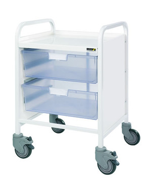 Buy VISTA 20 Trolley  2 Double Depth Clear Trays (Sun-MPT9C) sold by eSuppliesMedical.co.uk