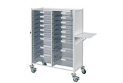 Buy Vista 240 Trolley  12 single / 6 double depth clear trays (SUN-MPT241C) sold by eSuppliesMedical.co.uk