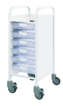 Buy VISTA 30 Trolley -  6 Single Depth Clear Trays (Sun-MPT10C) sold by eSuppliesMedical.co.uk