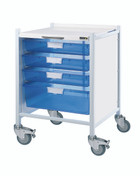 VISTA 40 Trolley - 3 Single / 1 Double Depth Clear Trays