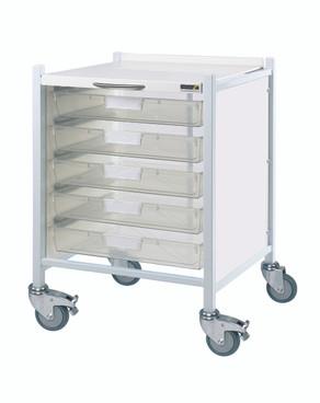 Buy VISTA 40 Trolley - 5 Single Depth Clear Trays (Sun-MPT40C) sold by eSuppliesMedical.co.uk