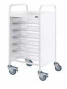Buy VISTA 50 Trolley - 6 Single Depth Clear Trays (Sun-MPT1C) sold by eSuppliesMedical.co.uk