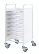 Buy Vista 55 Trolley - 7 Single Depth Clear Trays (Sun-MPT55C) sold by eSuppliesMedical.co.uk