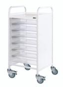 Buy Vista 55 Trolley - 7 Single Depth Clear Trays (Sun-MPT55C) sold by eSuppliesMedical.co.uk