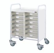 Buy VISTA 60 Trolley - 12 Single Depth Clear Trays (Sun-MPT60C) sold by eSuppliesMedical.co.uk