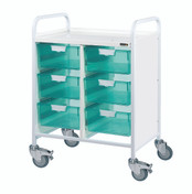 VISTA 60 Trolley - 6 Double Depth Clear Trays