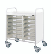 Buy VISTA 80 Trolley - 12 Single Depth Clear Trays (Sun-MPT14C) sold by eSuppliesMedical.co.uk