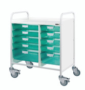 VISTA 80 Trolley - 8 Single / 2 Double Depth Clear Trays