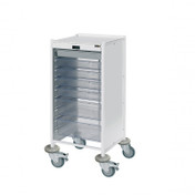Vista 90 Action Station Trolley, 5 single/2 double depth clear trays