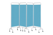 Buy Replacement Pastel Blue Curtain for 4 section screen (Sun-CUR4/DCPB) sold by eSuppliesMedical.co.uk