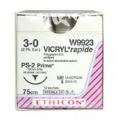Buy Vicryl Rapide Suture (W9923) 3/8 circle Reverse Cutting P Needle, Box of 12 (W9923) sold by eSuppliesMedical.co.uk