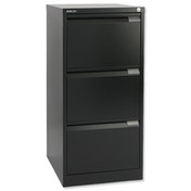 Buy Bisley 3 Drawer Filing Cabinet Black (BS3EBK) sold by eSuppliesMedical.co.uk