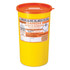 Buy Daniels Sharps Bin, 5.0 Litres, Orange Lid, Each (DNDD471OL) sold by eSuppliesMedical.co.uk