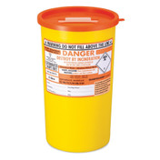 Buy Daniels Sharps Bin, 5.0 Litres, Orange Lid, Each (DNDD471OL) sold by eSuppliesMedical.co.uk