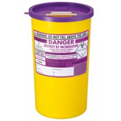 Buy Daniels Sharps Bin, 5.0 Litres, Purple Lid, Each (DNDD605) sold by eSuppliesMedical.co.uk