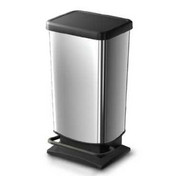 Buy 20 Litre Plastic Chrome Look Pedal Bin (W85079) sold by eSuppliesMedical.co.uk