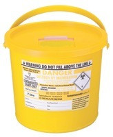 Buy Daniels Sharps Bin, 7.0 Litres, Yellow, Each (DNDD473YL) sold by eSuppliesMedical.co.uk