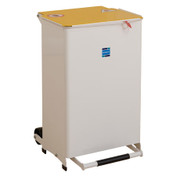 Buy Sidhil Kendal Waste Bin 50 Litre (Solid Body) (Yellow Lid) (BIN/50/Y) sold by eSuppliesMedical.co.uk