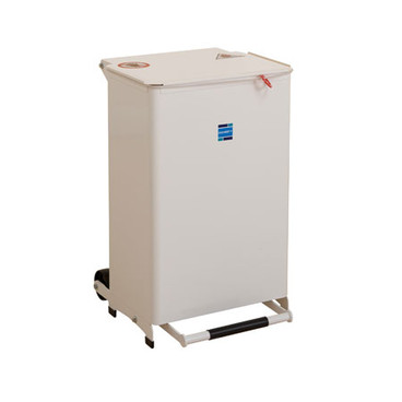 Buy Sidhil Kendal Waste Bin 50 Litre (Solid Body) (White Lid) (BIN/50/W) sold by eSuppliesMedical.co.uk