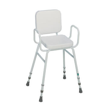 Buy Sidhil Perching Stool (Padded Backrest) (1399/EX/WHITE) sold by eSuppliesMedical.co.uk