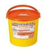 Buy Sharpsguard Sharps Bin, 11.5 litres, Orange Lid (DNDD476OL) sold by eSuppliesMedical.co.uk