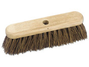 Buy Charles Bentley 18inch Broom Head Outdoor Wooden Hard Bristle Bassine Stiff 450mm (4002915) sold by eSuppliesMedical.co.uk