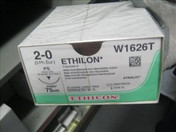 Buy Ethilon (W1626T)  2-0, 75cm, 26mm 3/8 Circle Reverse Cutting Needle, Box of 24 (MOW1626T) sold by eSuppliesMedical.co.uk