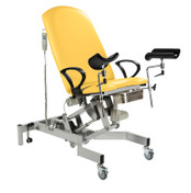 Fusion GYNAE 1 Couch, 2 Section Hydraulic. Gas Assisted Back, No Seat Tilt, complete with Arm Supports and Leg Supports.