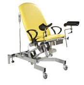 Fusion GYNAE 2 Couch, 2 Section Electric. Gas Assisted Back, Powered Tilting Seat, complete with Arm Supports and Leg Supports
